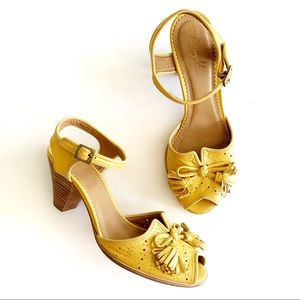 Miss Albright | Yellow Tassel Leather Heels 9.5